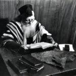 Aaron Feldbaum w synagodze po emigracji do USA. Zdjęcie ze zbiorów rodziny