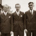 Bracia Schneider w USA. Abe (ur. w Białowieży), Sol, Bil, zdjęcie ze zbiorów rodziny