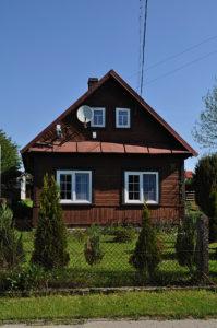Dawny dom Samuela Alkona. Pierwsza, większa część domu, w której mieścił się słynny sklep bławatny, została rozebrana. Zdjęcie Katarzyna Winiarska