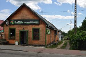 Dawny sklep bławatny Nowokolskich, za którym stała synagoga na Stoczku. Obecnie sklep Kamar. Zdjęcie Katarzyna Winiarska