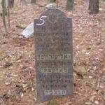 Grób Eliezera Józefa Maleckiego z Białowieży na cmentarzu w Narewce. Zdjęcie Remigiusz Sosnowski, Fundacja Dokumentacji Cmentarzy Żydowskich.