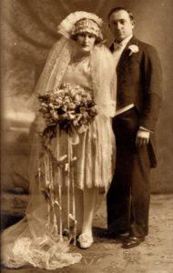 Klara Feldbaum z Białowieży z mężem Hermanem Reznickiem w USA w 1926. Zdjęcie ze zbiorów rodziny