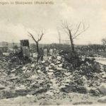 Zniszczenia I wojny światowej w Białowieży, 1914-1918. Zdjęcie ze zbiorów FotoPolska