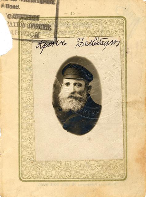 Aaron Feldbaum paszport ok 1900